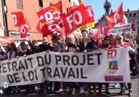 Manifestation contre la loi Travail, Le Puy 28/04/16. Forte présence de Nuit Debout
