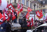 Manifestation contre la loi Travail, Le Puy 28/04/16. Intervention de la CGT.
